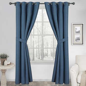 folded curtains